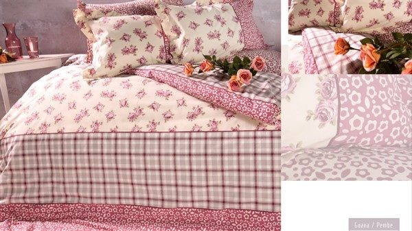 Soley Single Ranforce طقم غطاء لحاف - Guana Pink