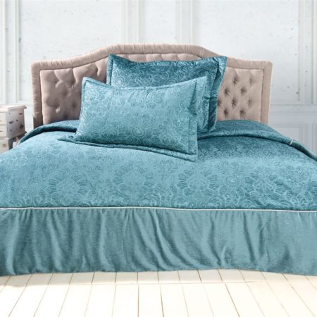Soley Selectionغطاء سرير Maya turquoise