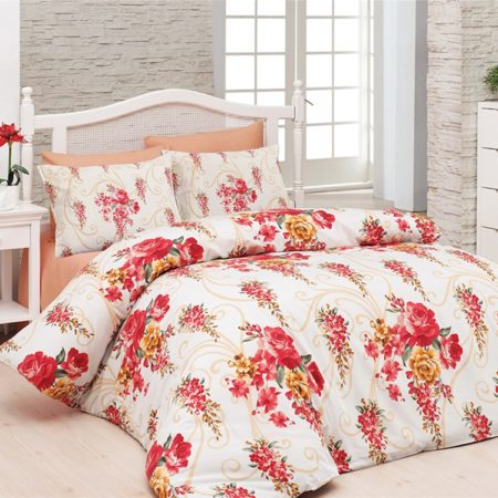 Belenay Double  طقم نوم - Floral red