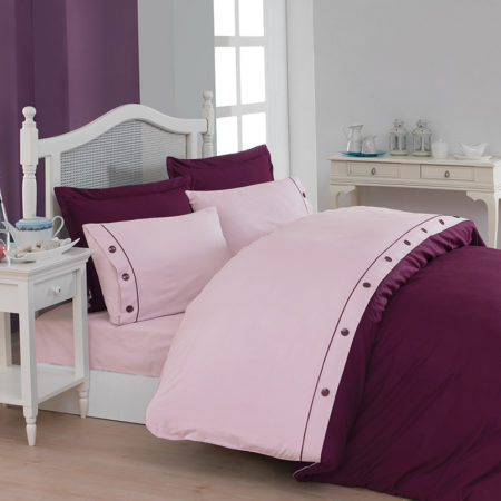Belenay Double  XL Natura طقم غطاء لحاف  - Plum