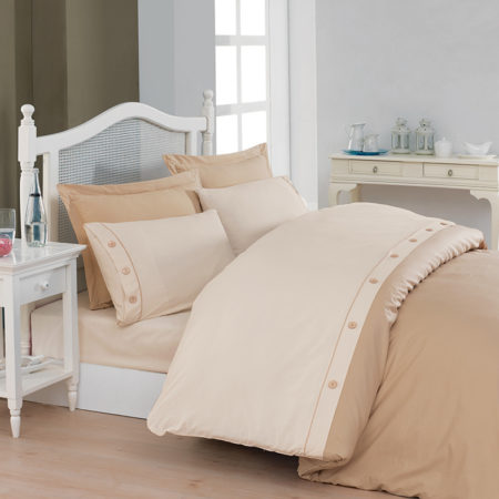 Belenay Double  XL Natura طقم غطاء لحاف  - Cream