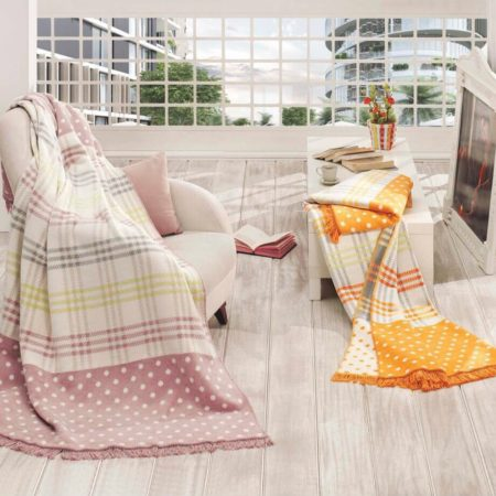 Merinos بطانية قطنية 200x220 boxed - Aby Yellow